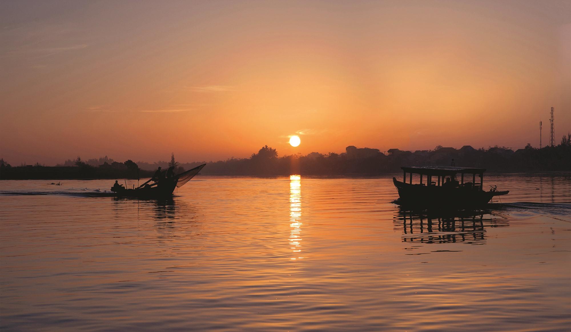 Sông Thu Bồn. Ảnh: NGUYỄN HỮU KHIÊM