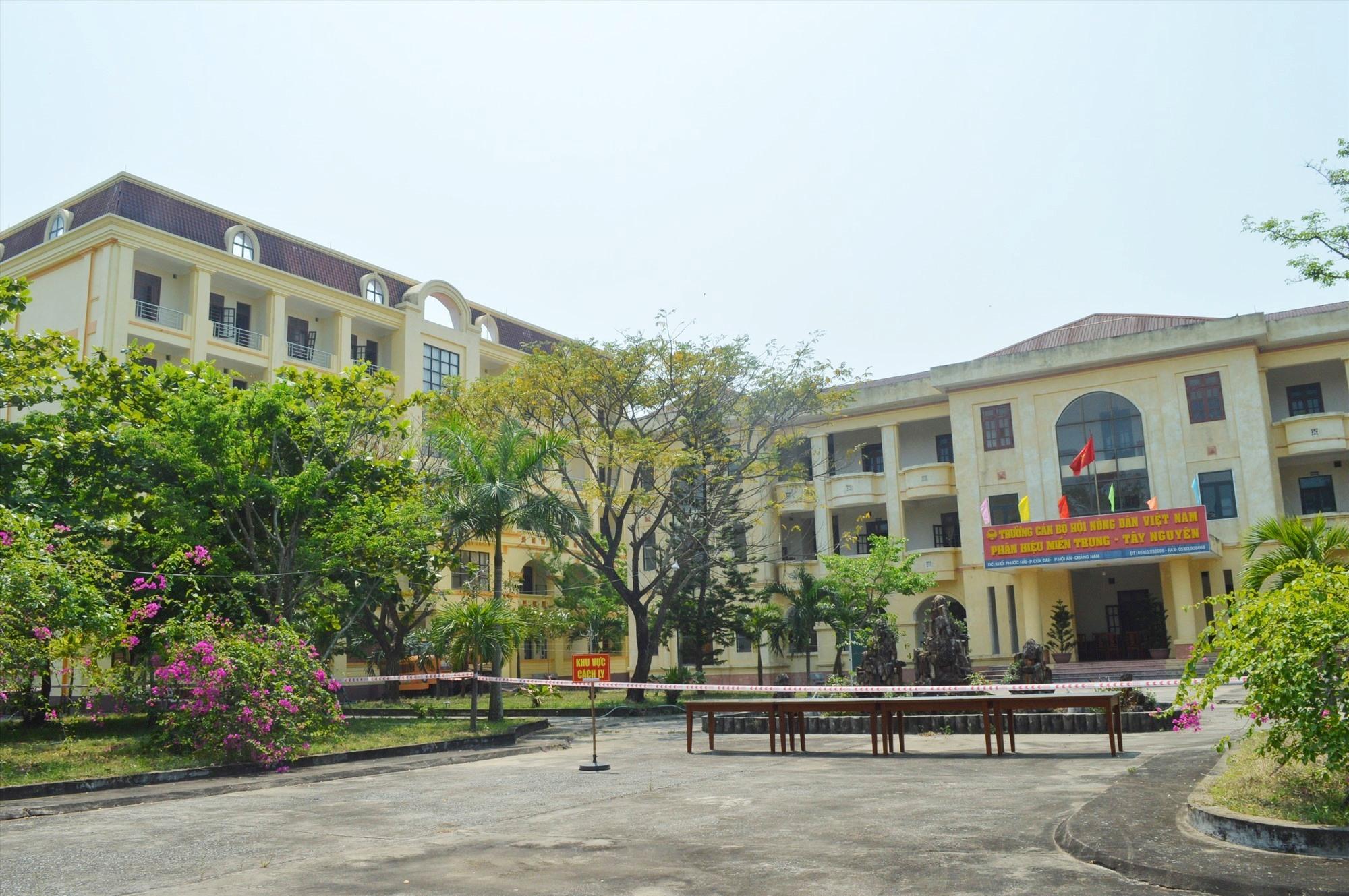 khu cách ly Trường Cán bộ Hội Nông dân Việt Nam phân hiệu miền Trung - Tây Nguyên