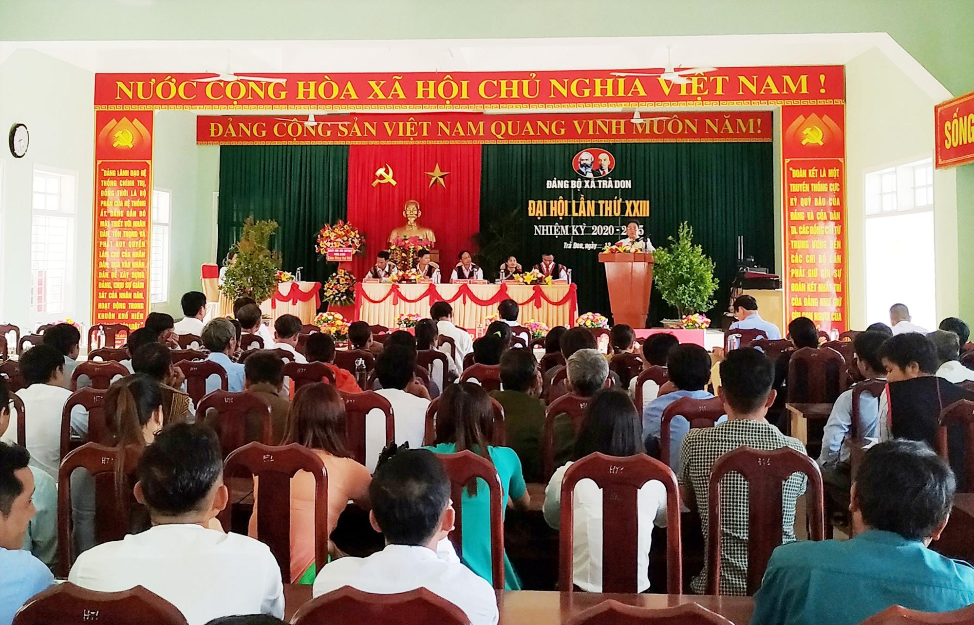 Đại hội Đảng bộ xã Trà Don (Nam Trà My) lần thứ XXIII, nhiệm kỳ 2020 - 2025