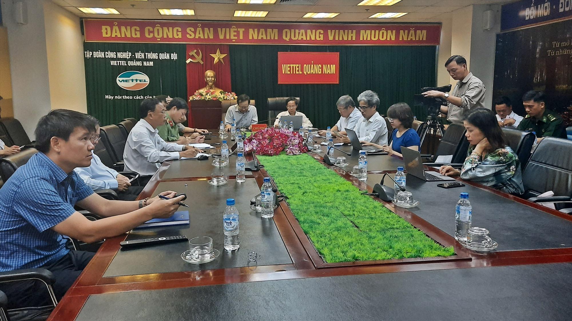 Quang cảnh hội nghị tập huấn tại điểm cầu Quảng Nam. Ảnh: Đ. ĐẠO