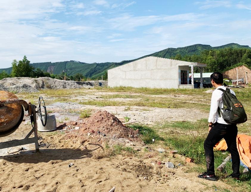 Hạ tầng khu TĐC đã được hoàn thiện và bố trí nơi ở mới cho các hộ dân. Ảnh: PHAN VINH