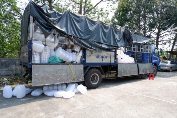 Lượng hàng hóa trên xe tải