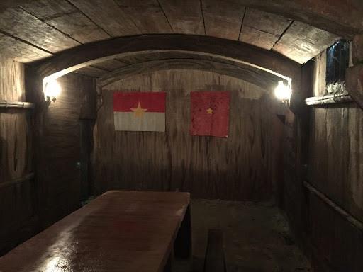 Căn hầm chỉ huy kiên cố ở địa đạo Kỳ Anh.