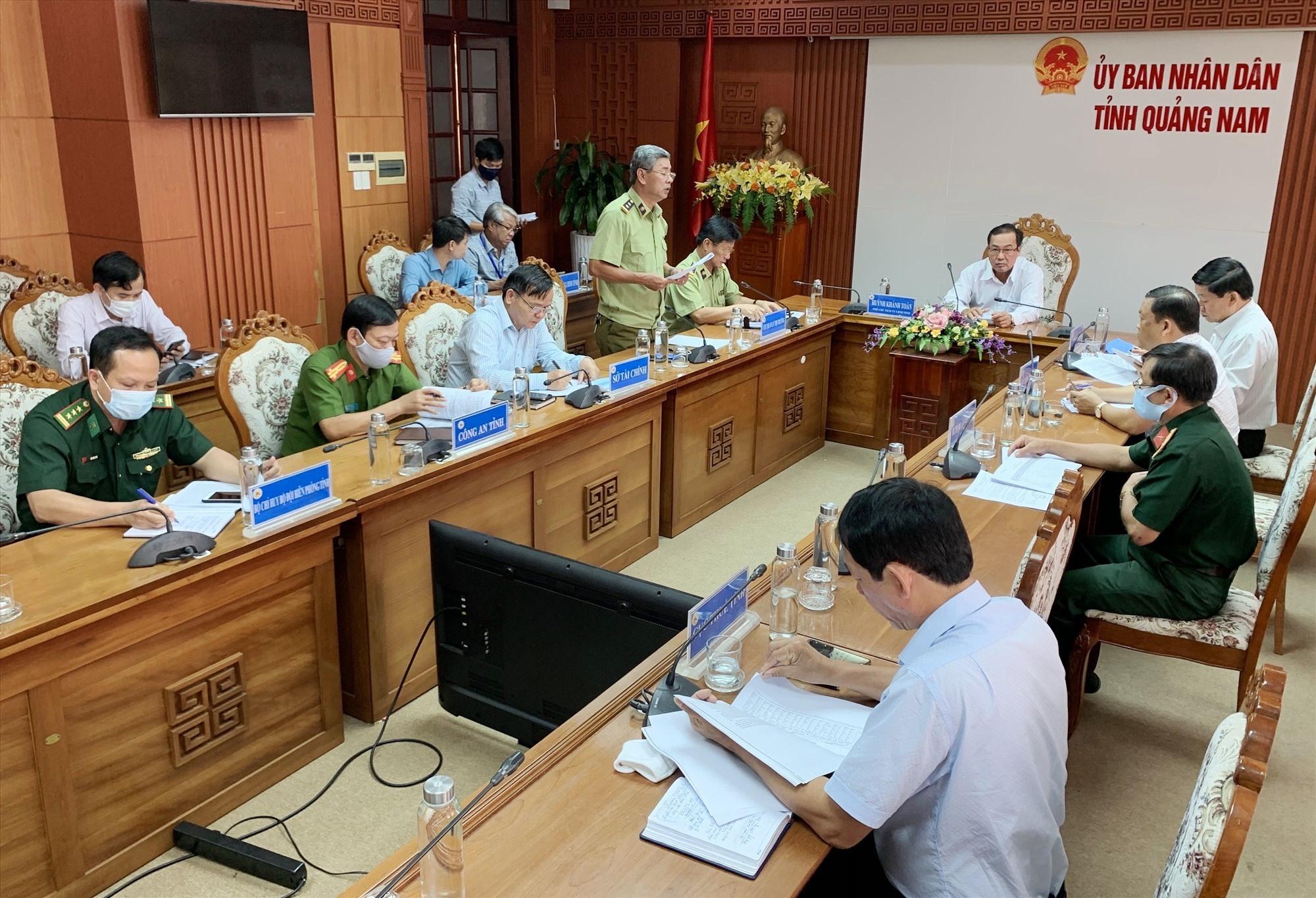 Quang cảnh buổi làm việc của Ban chỉ đạo 389 Quảng Nam.