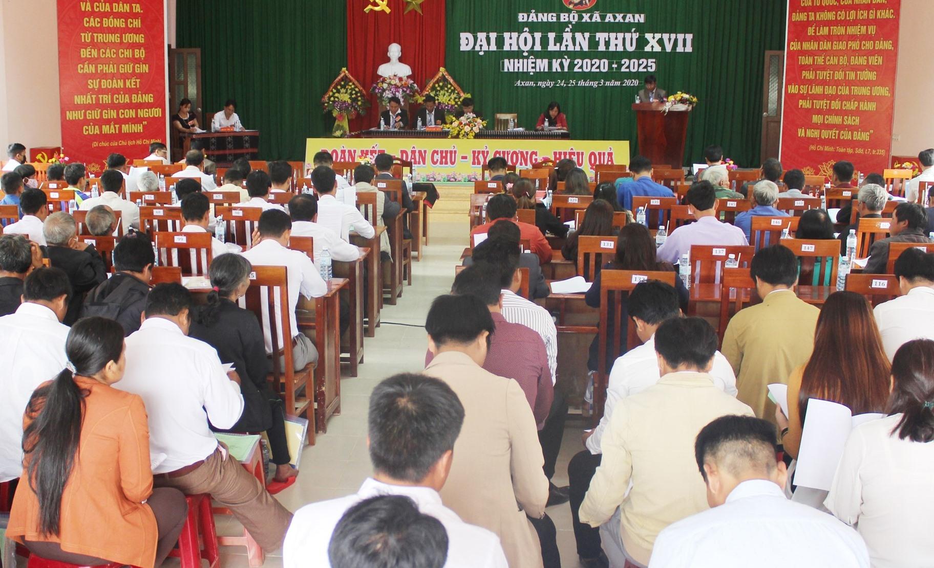 Đảng bộ xã A Xan tổ chức Đại hội lần thứ XVII