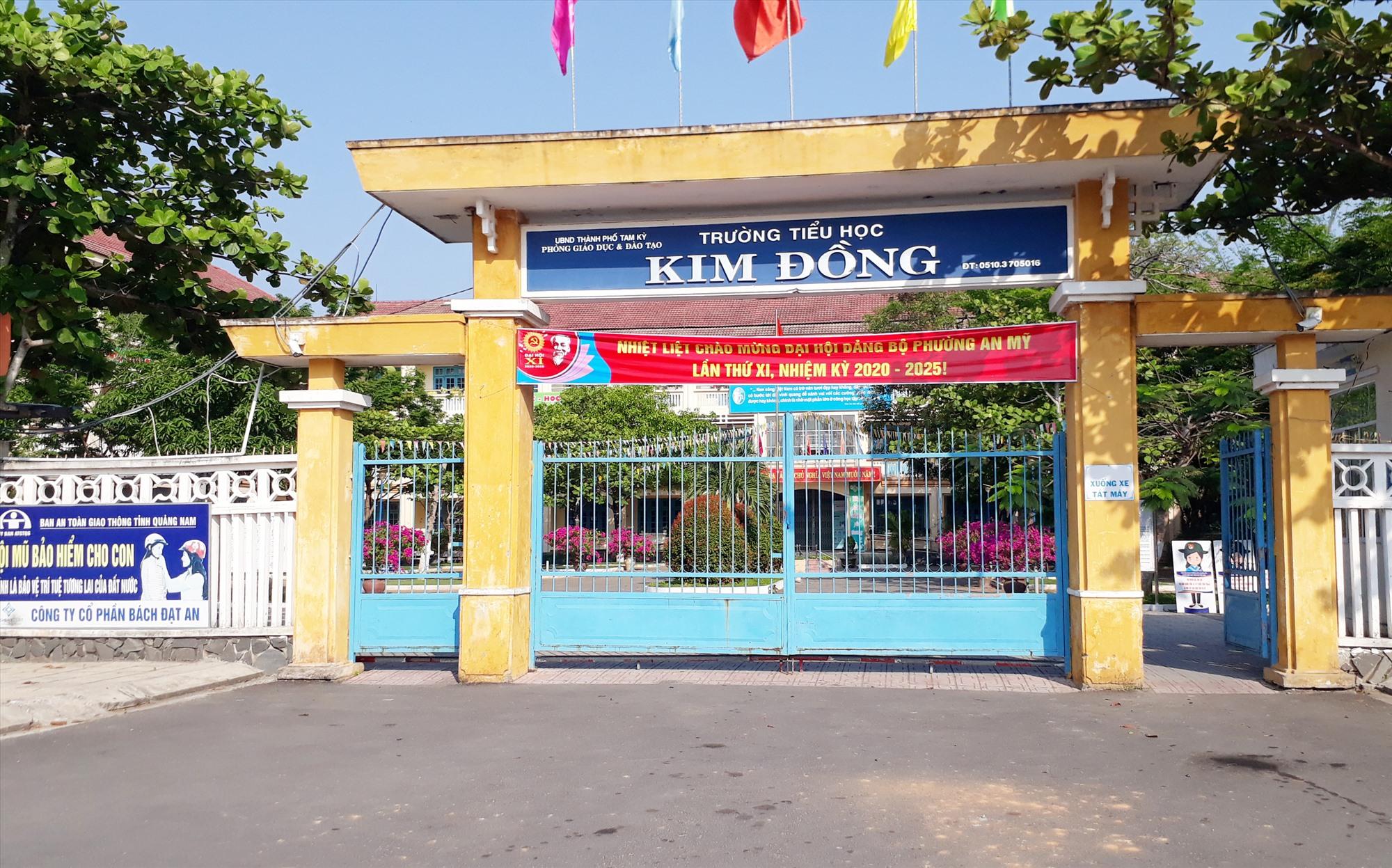 Trường Tiểu học Kim Đồng phường An Mỹ được xây dựng khang trang. Ảnh: X.P