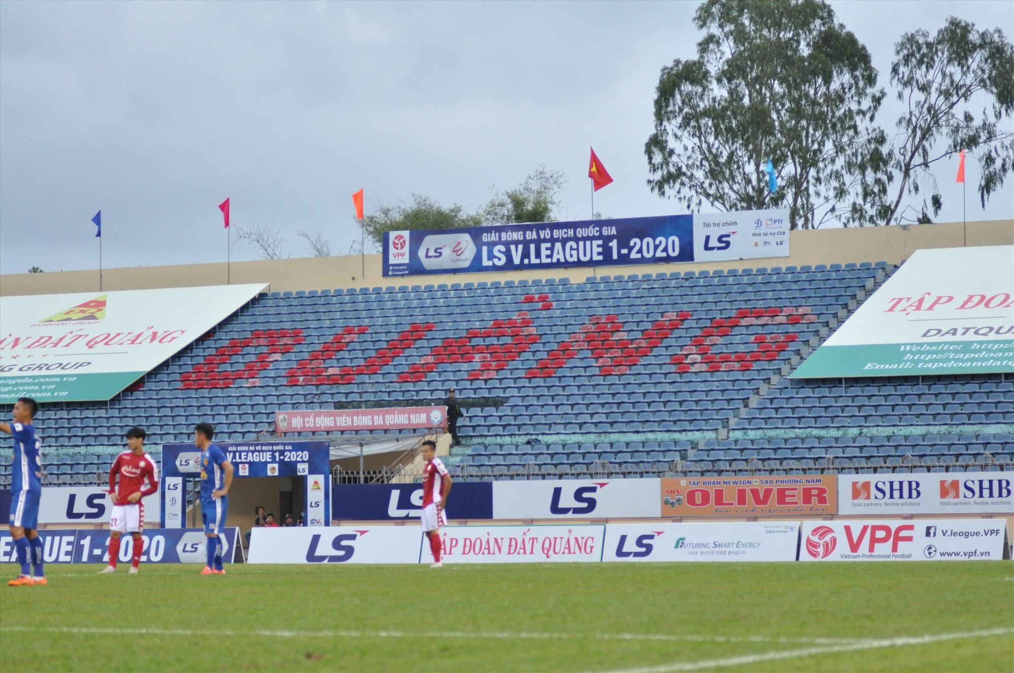 Hai vòng đấu đầu tiên của V-League 2020 diễn ra trên sân không có khán giả. Ảnh: T.V