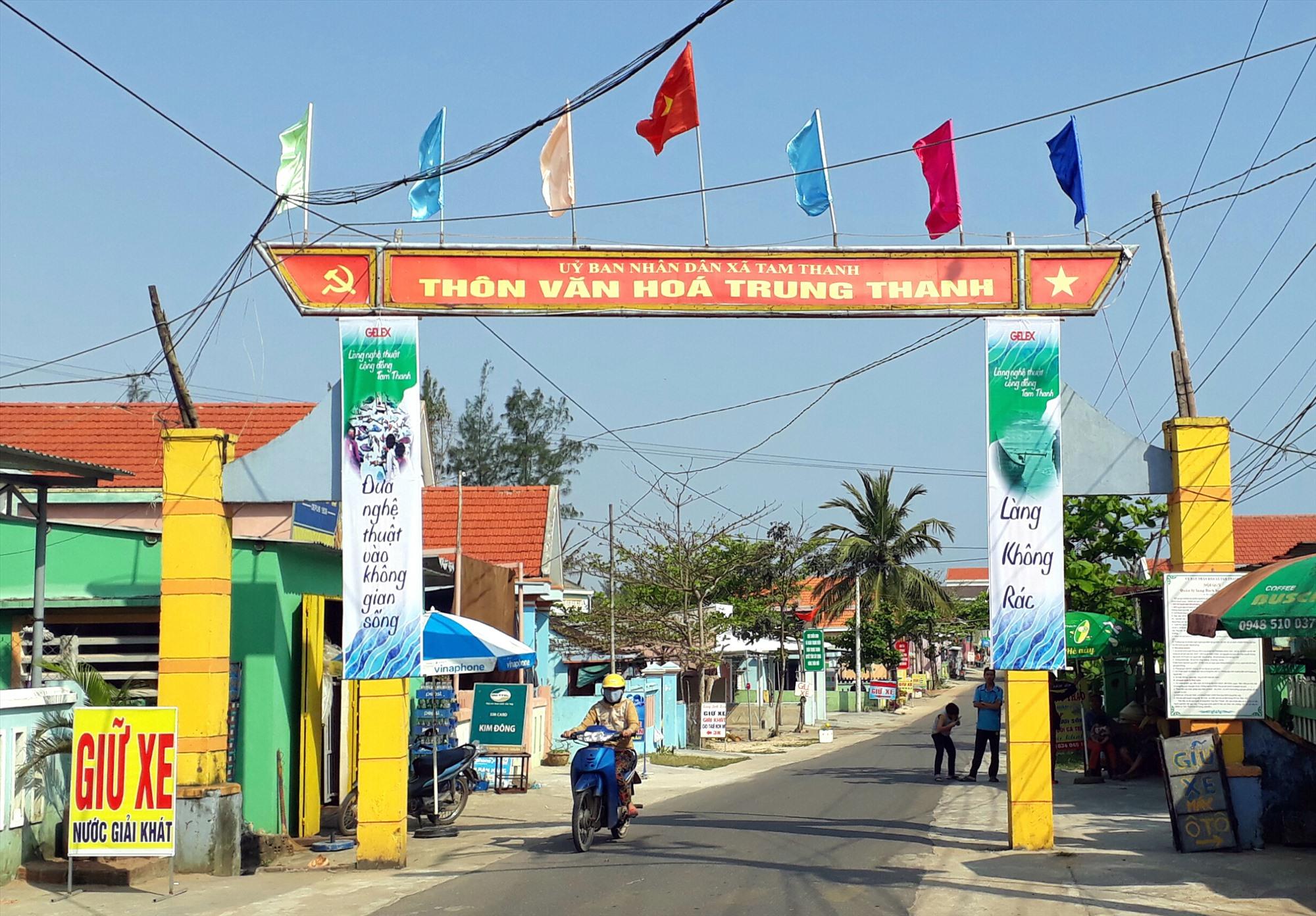 Xã Tam Thanh đang tập trung xây dựng đạt chuẩn xã NTM kiểu mẫu vào cuối năm 2020. Ảnh X.T