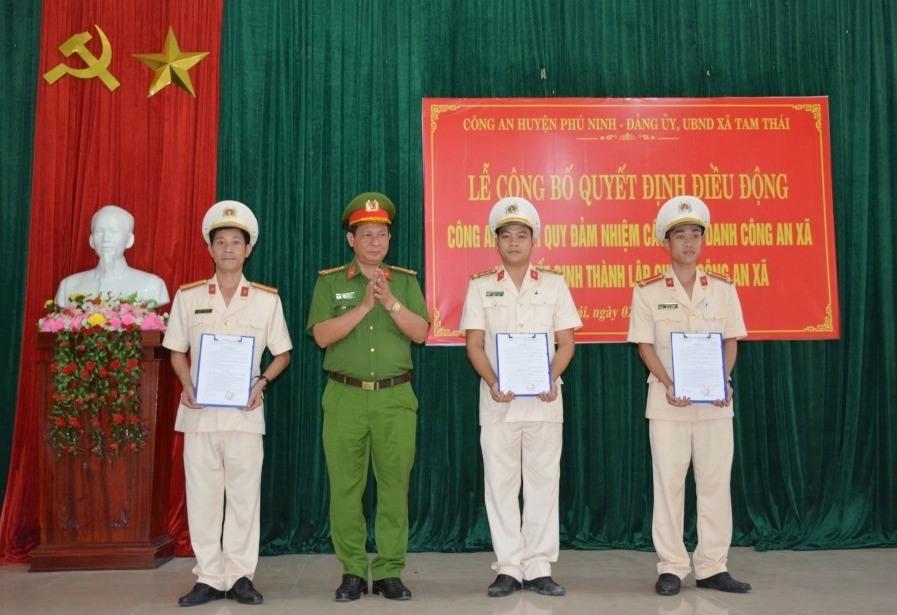Công bố quyết định điều động công an chính quy về xã Tam Thái