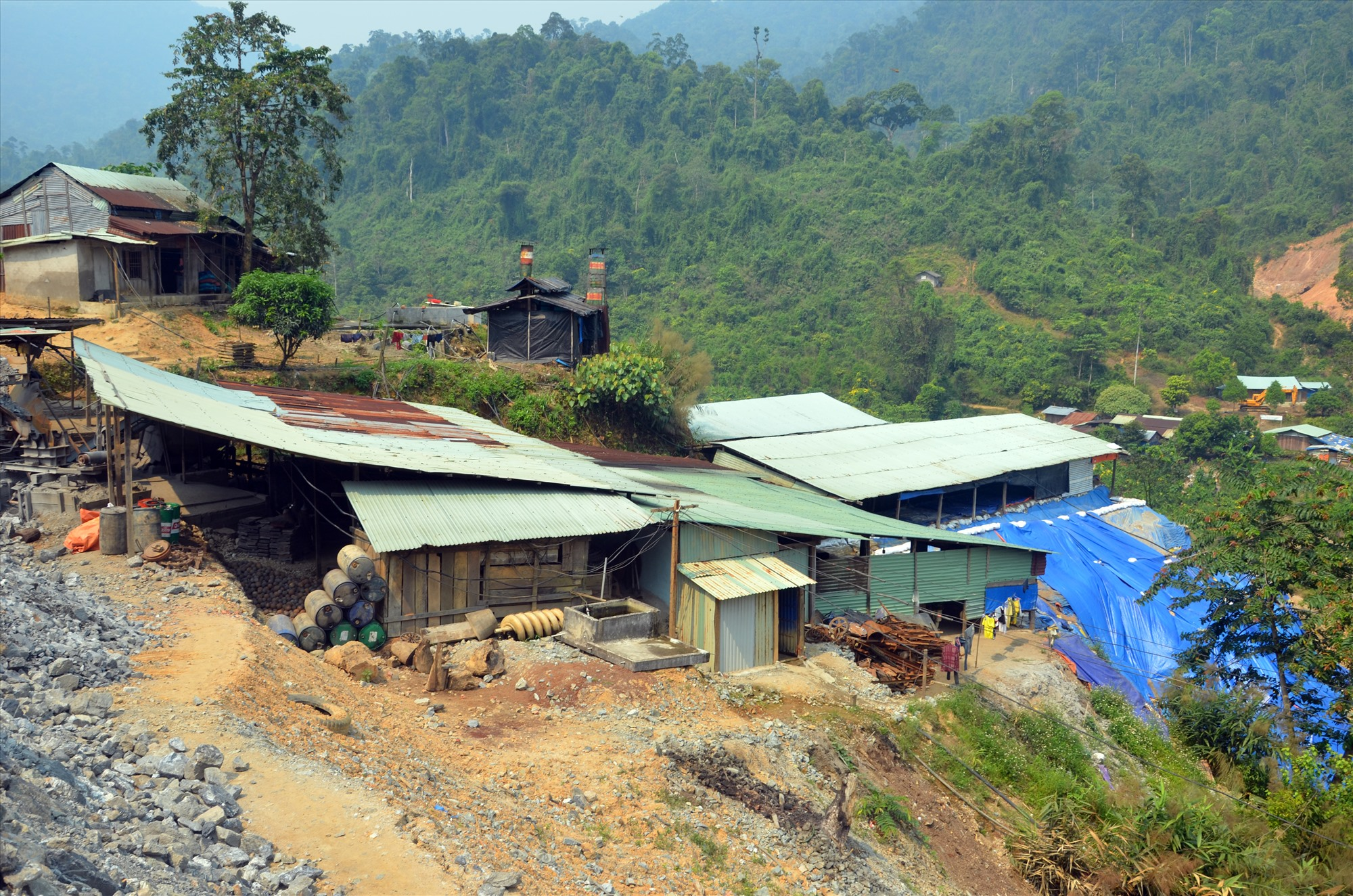 Khu vực thôn 8, xã Phước Hiệp (Phước Sơn) đưa vào bổ sung quy hoạch khoáng sản vàng phân tán nhỏ lẻ trình HĐND tỉnh kỳ họp sắp đến. Ảnh: T.H
