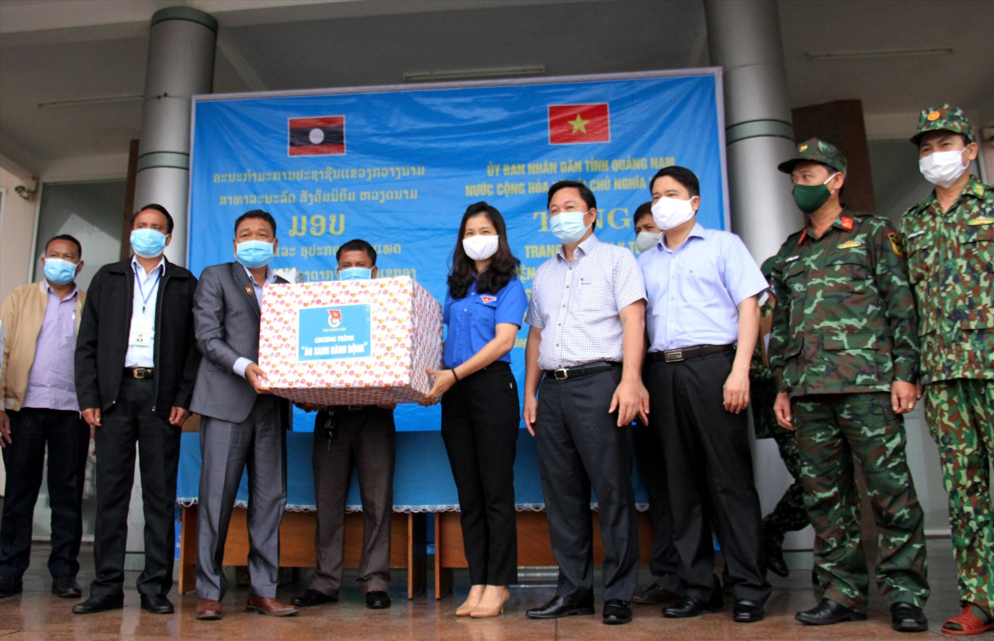 The ceremony of giving medical equipment donation