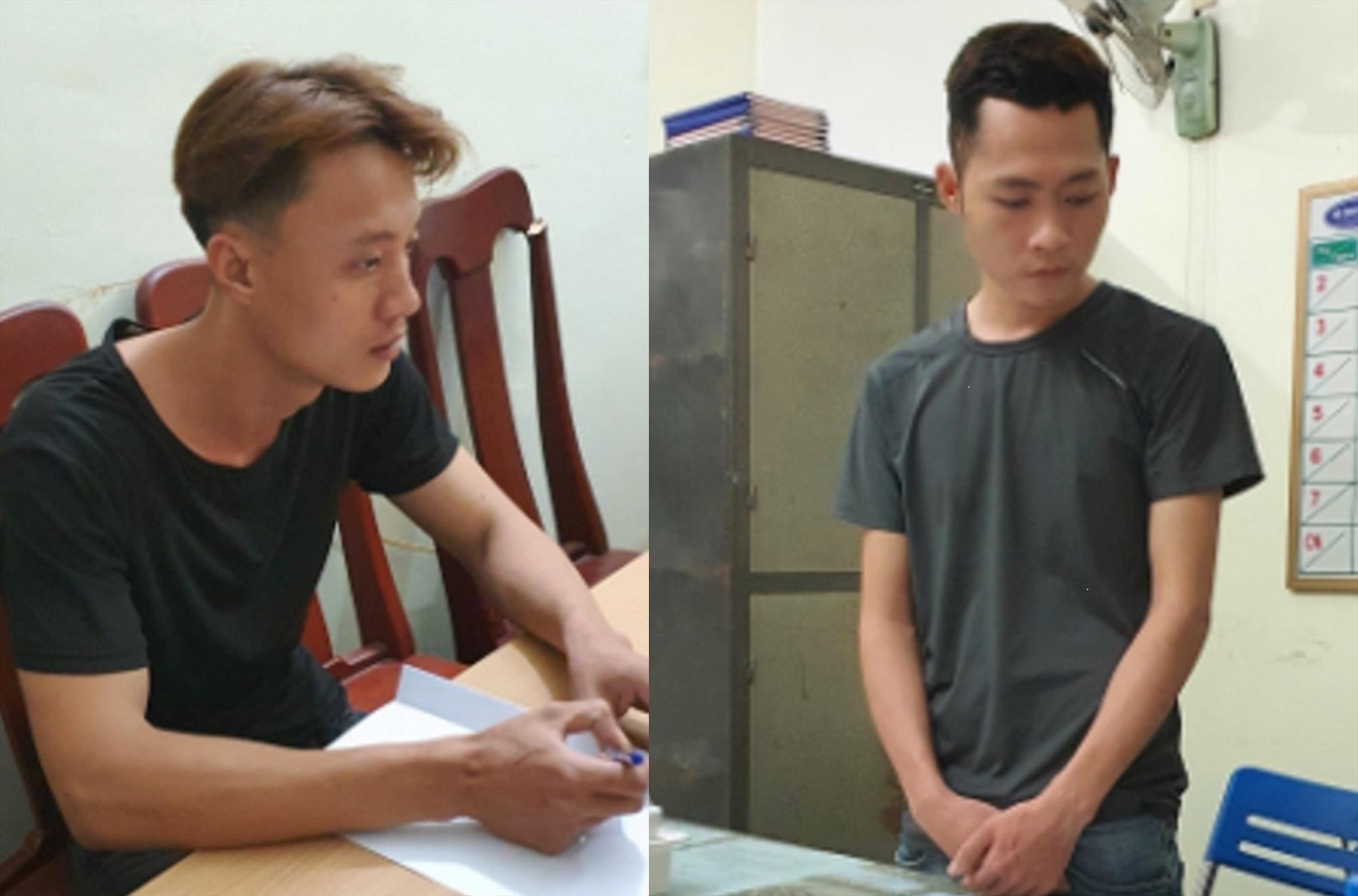 Ảnh 2: Nguyễn Thái Thành tại cơ quan Công an. (Ảnh CA cung cấp) Ảnh 3: Võ Hồng Quang tại cơ quan Công an. (Ảnh CA cung cấp)