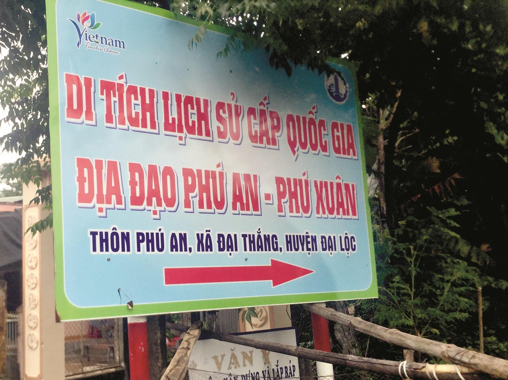 Địa đạo Phú An - Phú Xuân.