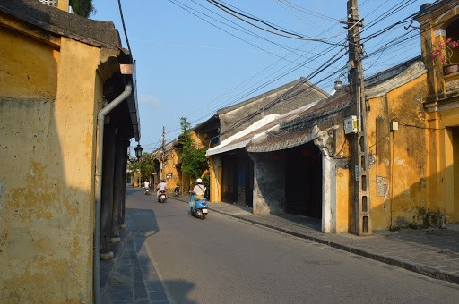 A peaceful street in Hoi An ancient town