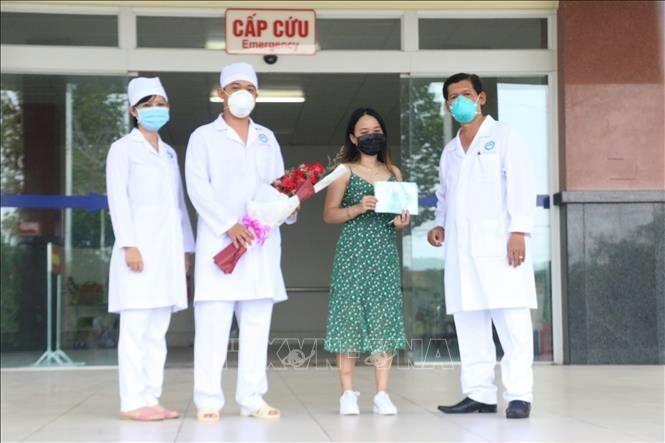 Ngày 6/4/2020, Bệnh viện Lao và Bệnh phổi thành phố Cần Thơ đã tiến hành cho xuất viện đối với bệnh nhân 154. Ảnh: Ánh Tuyết/TTXVN