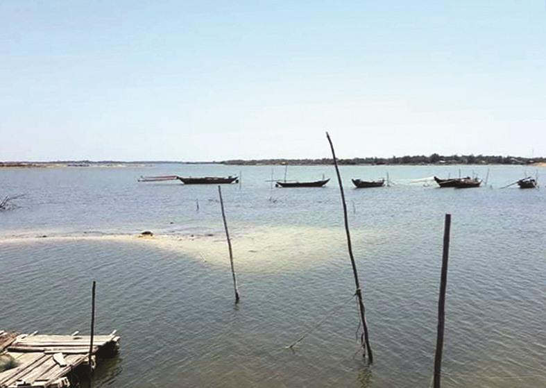 Khu vực vịnh An Hòa đang triển khai thi công dự án. Ảnh:H.P