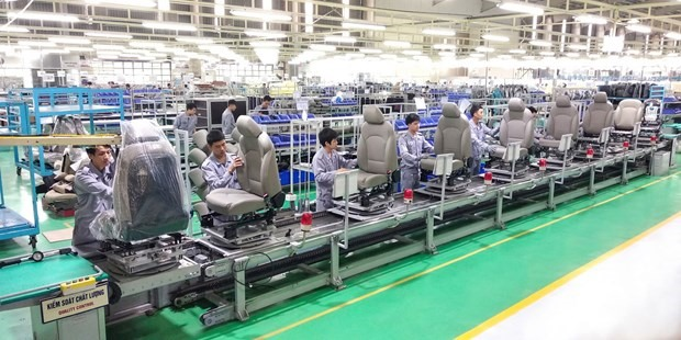 Car seat production line. Photo: THACO
