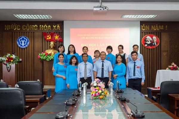 Chi bộ Chế độ BHXH (thuộc Đảng bộ BHXH tỉnh) tổ chức đại hội nhiệm kỳ 2020 - 2023. Ảnh: B.H