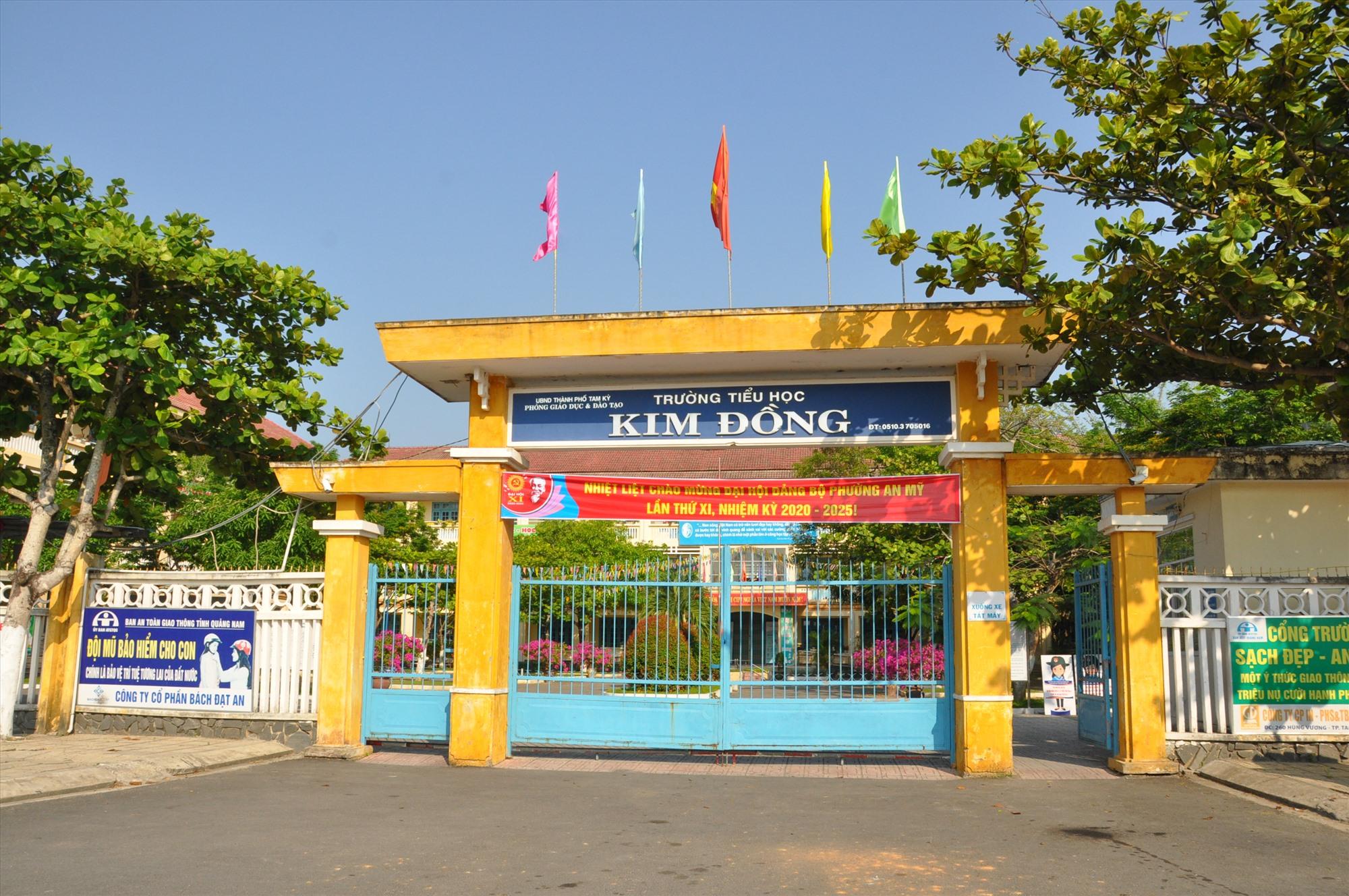 Phường An Mỹ (Tam Kỳ) vẫn chấp nhận phương án bố trí 2 trường tiểu học là Võ Thị Sáu và Kim Đồng do số lượng học sinh quá đông. Ảnh: X.P