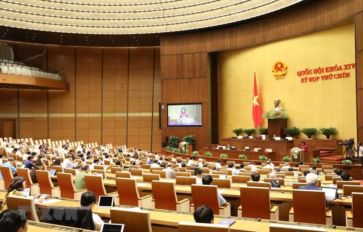 Quang cảnh ngày họp đầu tiên của Kỳ họp thứ 9, Quốc hội khóa XIV. (Ảnh: Văn Điệp/TTXVN)