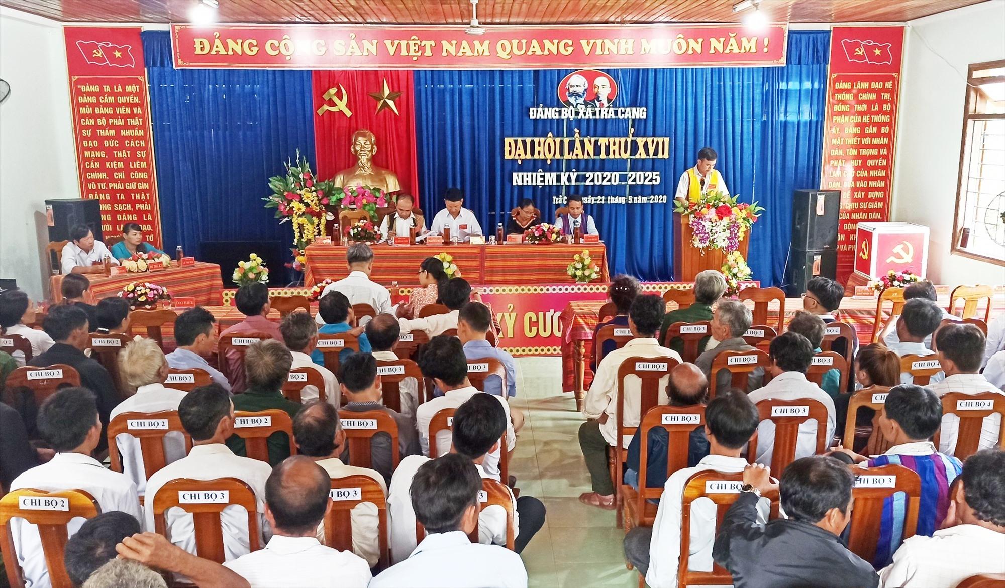 Đảng bộ xã Trà Cang (Nam Trà My) tổ chức Đại hội lần thứ XVII, nhiệm kỳ 2020 - 2025.