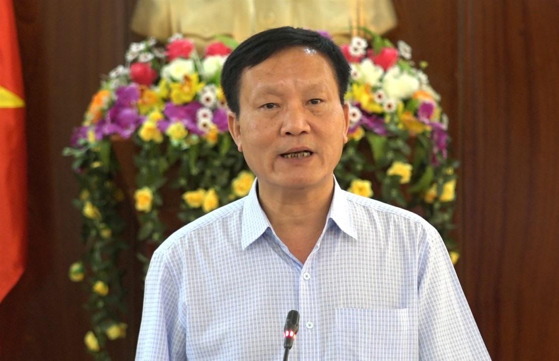 Phó Chủ tịch UBND Trần Đình Tùng phát biểu tại hội nghị. Ảnh: M.L