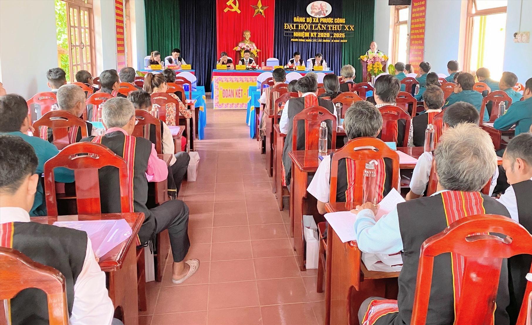 Đại hội Đảng bộ xã Phước Công (Phước Sơn) lần thứ XX, nhiệm kỳ 2020 - 2025
