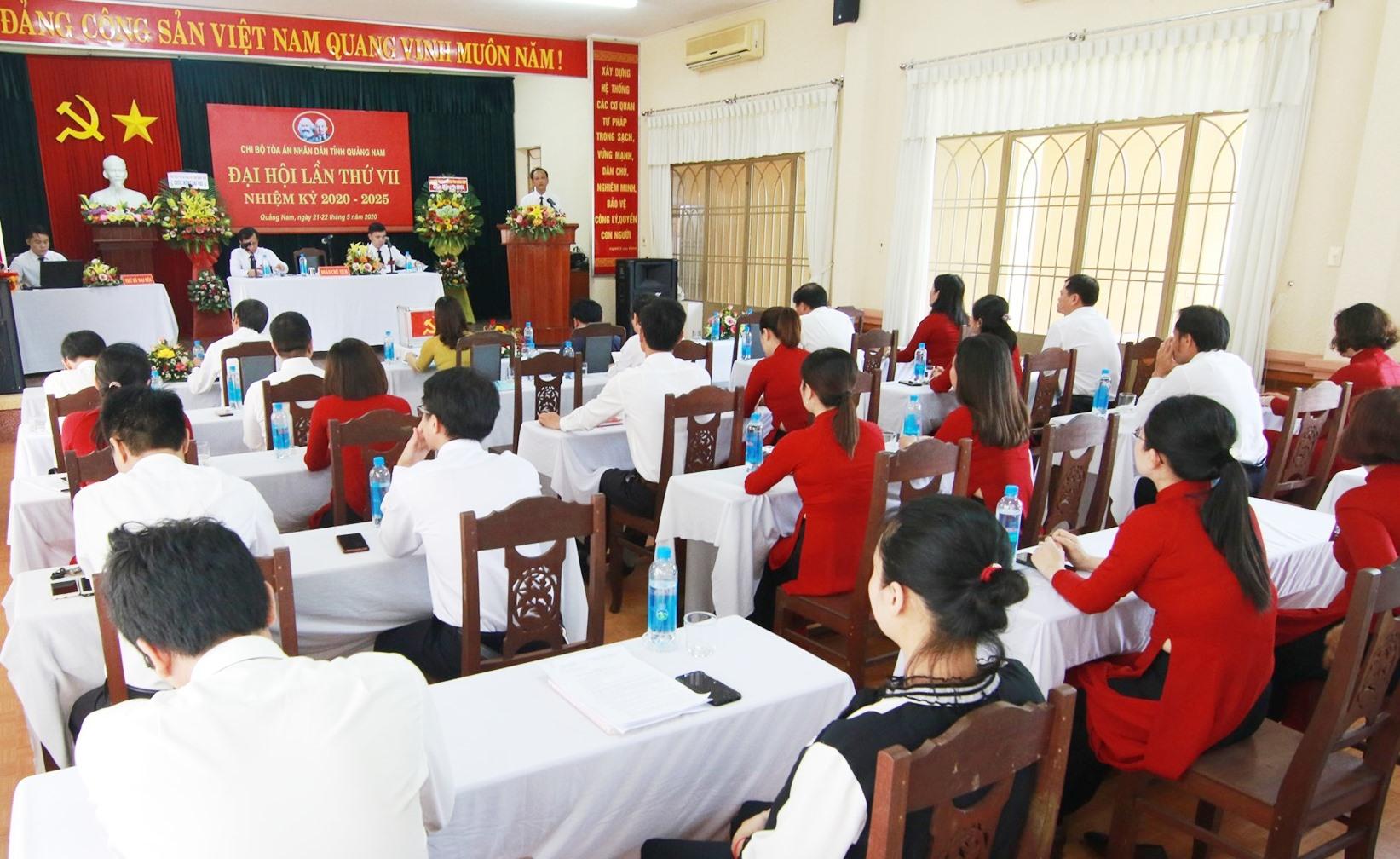 Phiên chính thức Đại hội Chi bộ TAND tỉnh khai mạc sáng nay, ngày 22.5