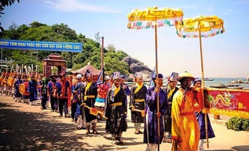 Lễ hội Bà Phường Chào, một nghi lễ, nét sinh hoạt mang đậm yếu tố văn hóa dân gian được Đại Cường chú trọng duy trì. Ảnh: H.L