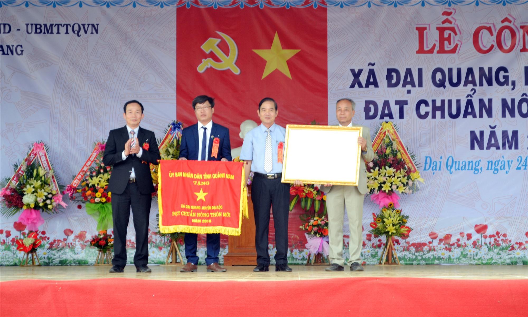 Xã Đại Quang được công nhận đạt chuẩn xã NTM vào năm 2018. Ảnh: C.T