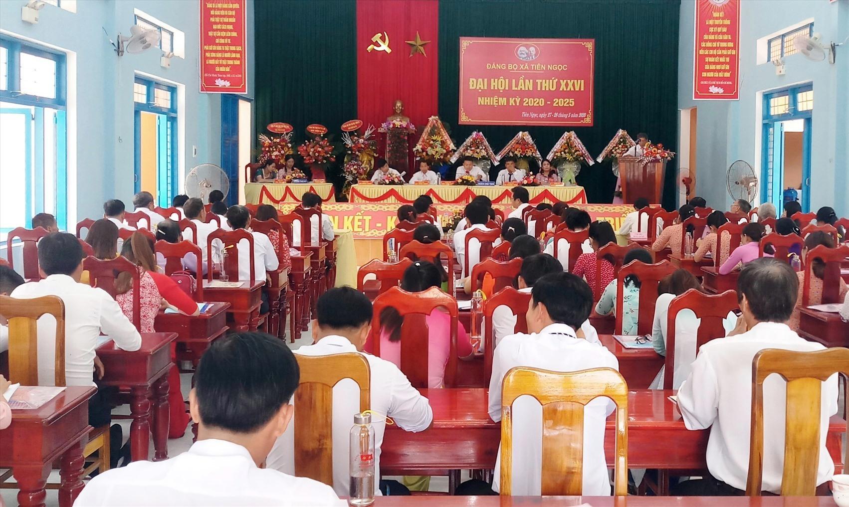 Đảng bộ xã Tiên Ngọc (Tiên Phước) tổ chức Đại hội lần thứ XXVI, nhiệm kỳ 2020 - 2025