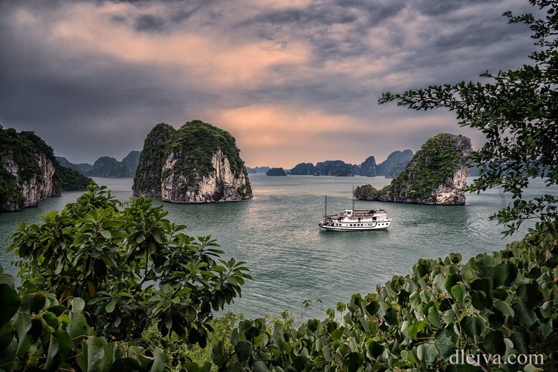 A corner of Ha Long Bay, a famous landscape in Vietnam