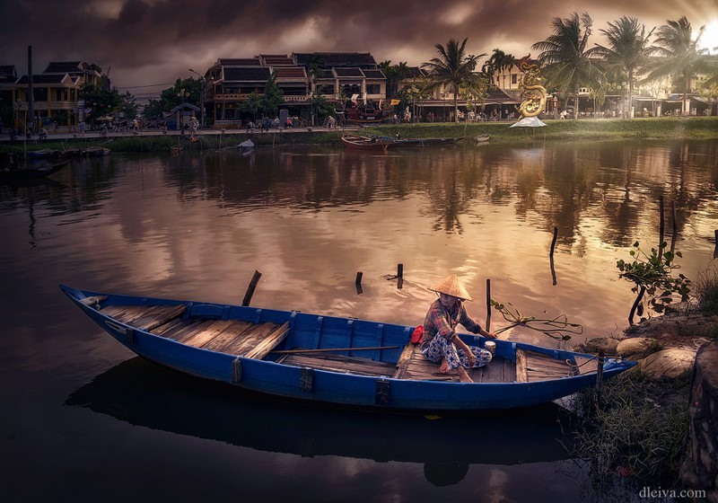 Hoi An ancient town on a bank of the poetic Thu Bon river