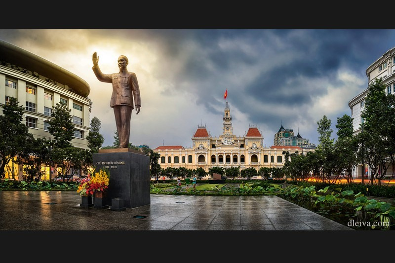 Statue of Uncle Ho in Ho Chi Minh city