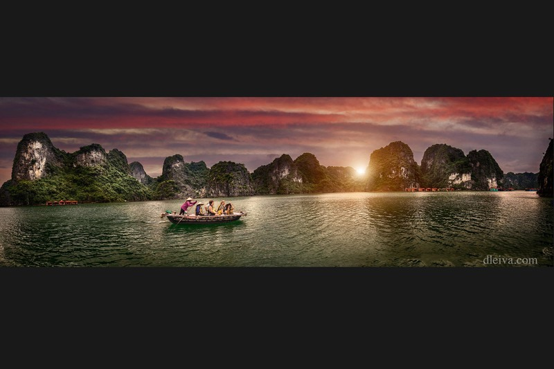 A panorama of Ha Long Bay