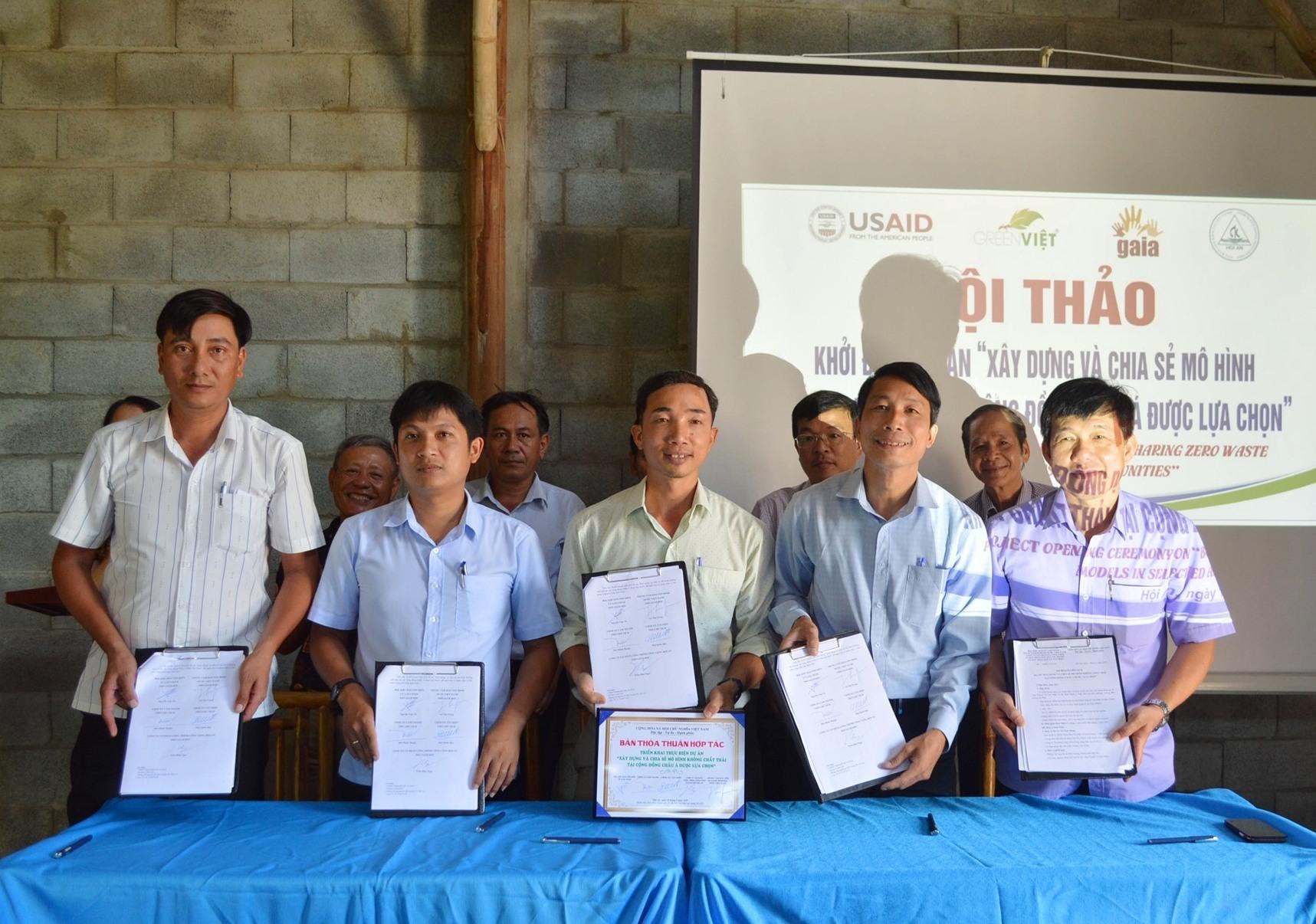Các bên liên quan ký kết Kế hoạch phối hợp thực hiện các hoạt động của dự án.
