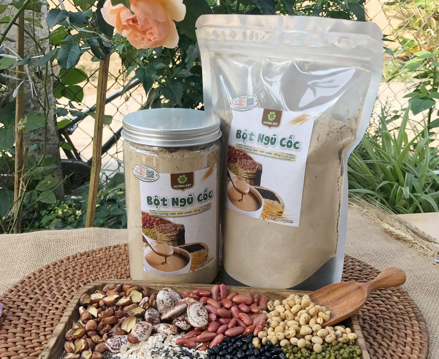 Bột ngũ cốc của cơ sở sản xuất Hương Bột.Ảnh: L.Q