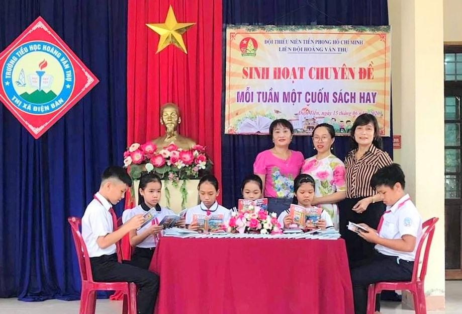 """Học sinh Điện Bàn tham gia sinh hoạt chuyên đề """"Mỗi tuần một cuốn sách hay"""". Ảnh: CTV"""