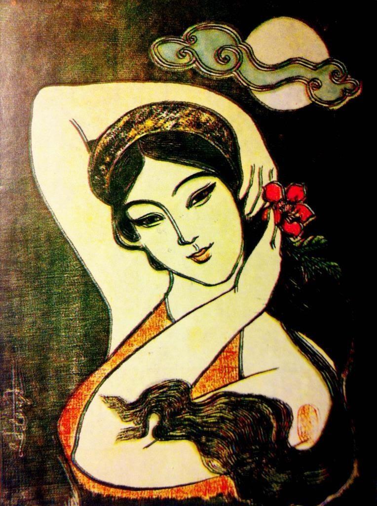 Bà Chúa thơ Nôm Hồ Xuân Hương chơi chữ chỉ bằng một nét (Hồ Xuân Hương - tranh của họa sĩ Lê Lam).
