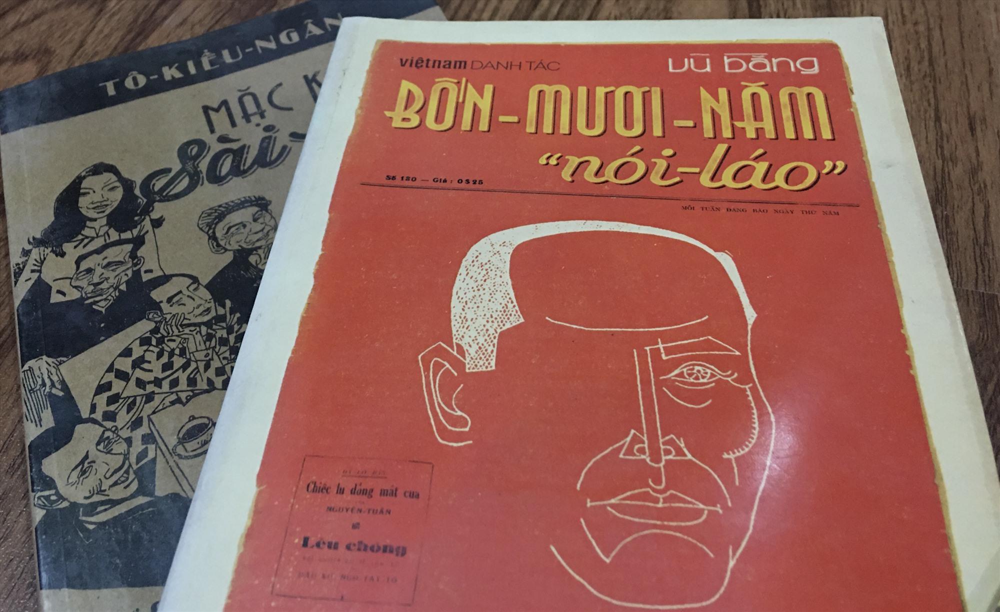 """Bốn mươi năm """"nói láo"""" (Vũ Bằng) và Mặc khách Sài Gòn (Tô Kiều Ngân), 2 tác phẩm nhắc nhiều câu chuyện bên lề của báo chí xưa."""