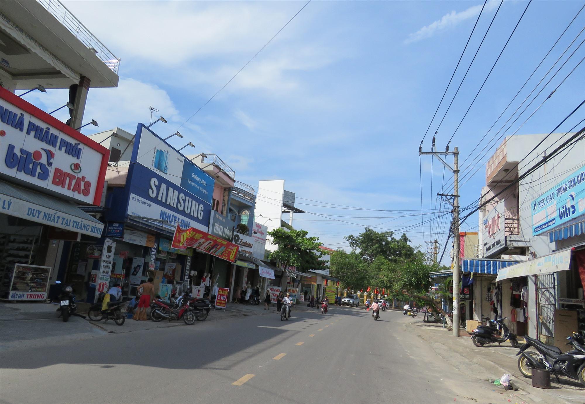 Đường nội thị trung tâm Hà Lam.Ảnh: T.V