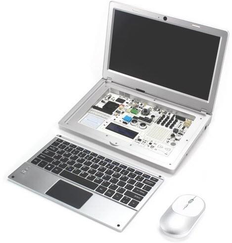 Được trang bị chuột không dây, bàn phím có thể bật nắp để xem cấu hình bên trong