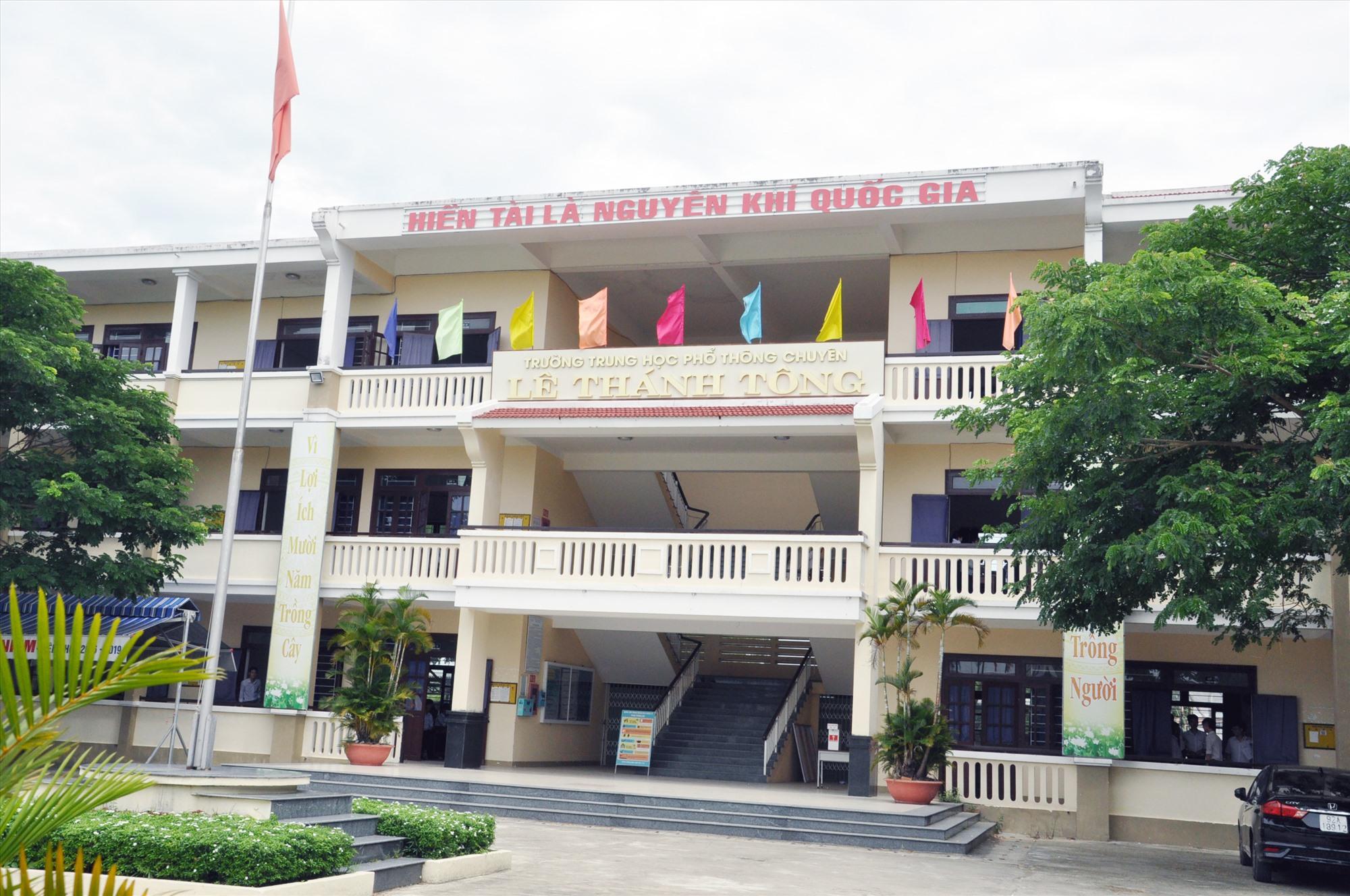 Trường THPT chuyên Lê Thánh Tông nhiều năm qua chất lượng tăng lên đáng kể, nhất là thành tích tại các kỳ thi HS giỏi. Ảnh: X.P
