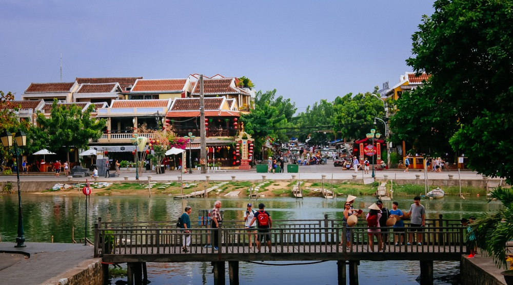 A corner of Hoi An ancient town viewed from another bank of the Hoai river