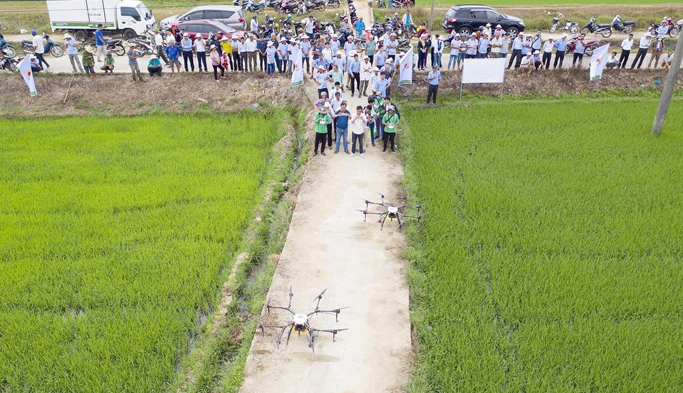 Drone performance at Vinh Xuan hamlet