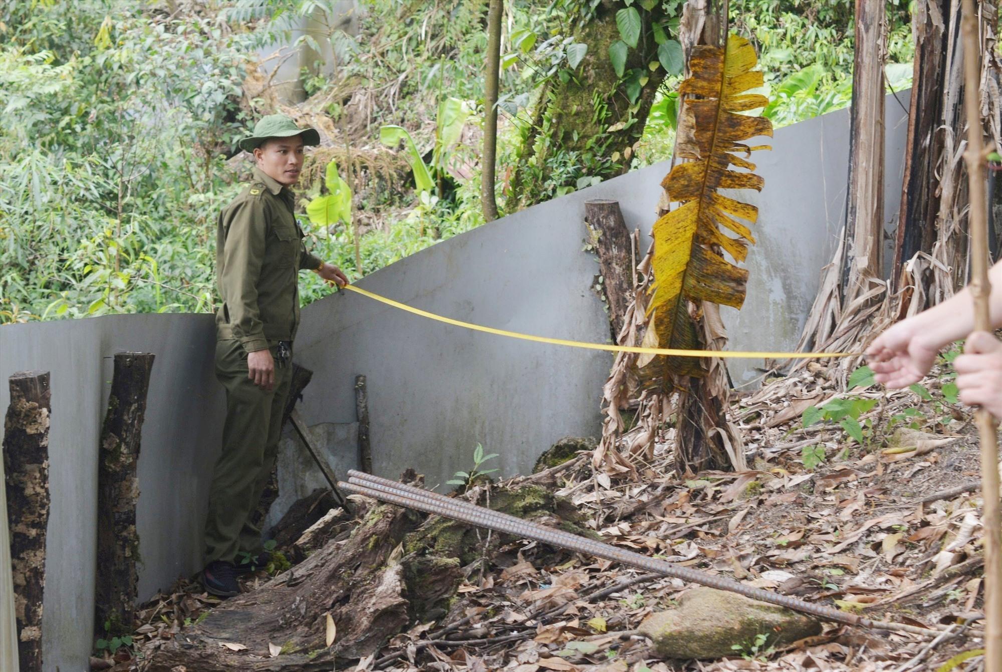Lực lượng chức năng huyện Nam Trà My điều tra một vụ trộm sâm ở xã Trà Linh. Ảnh: T.T