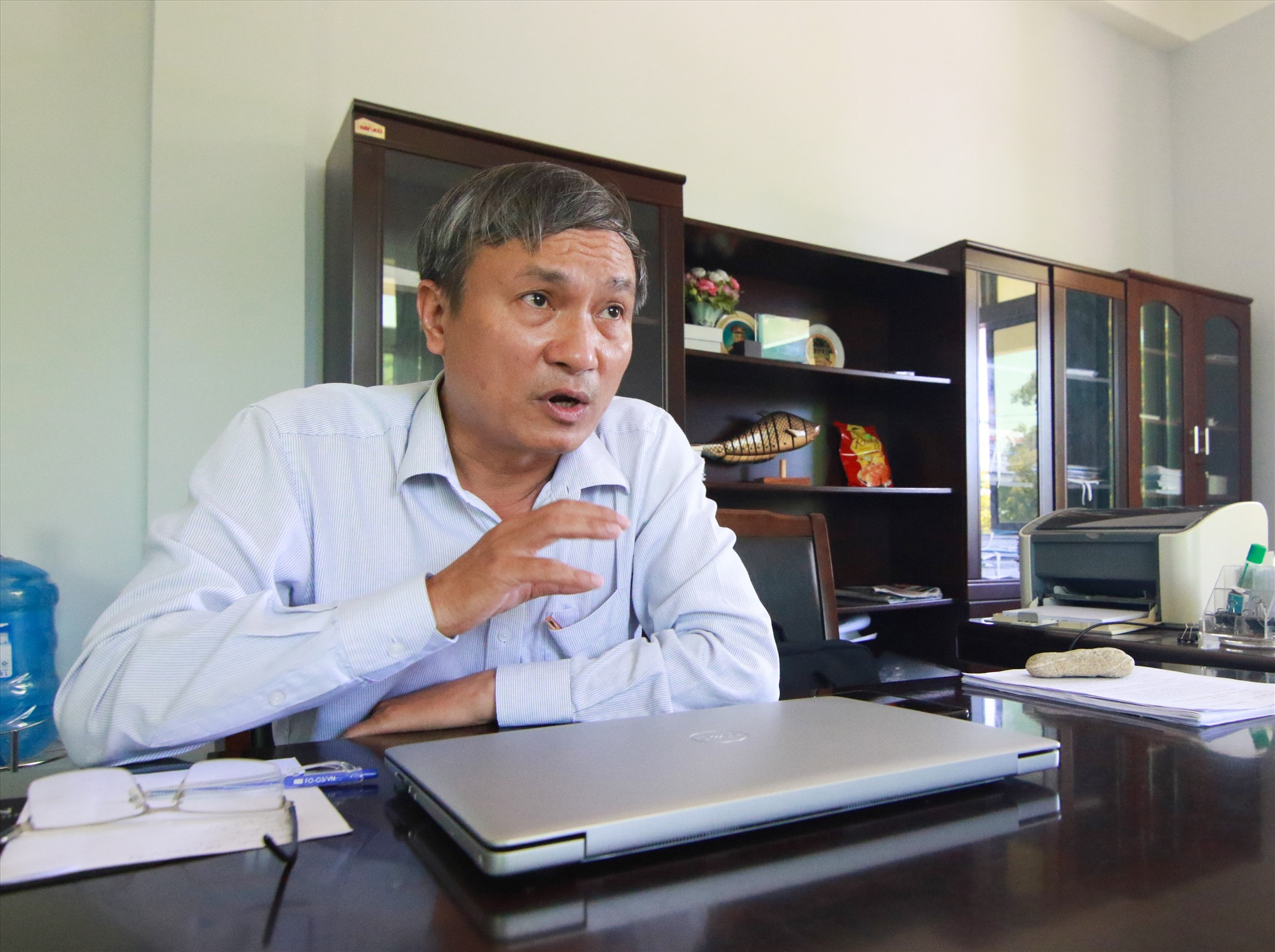 Bí thư Huyện ủy Núi Thành Nguyễn Tri Ấn. Ảnh: C.Đ
