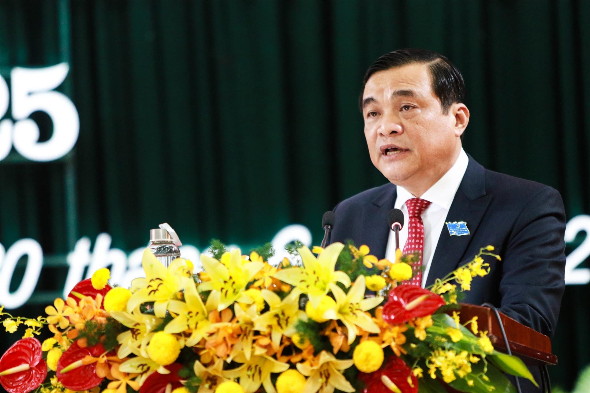 Bí thư Tỉnh ủy Phan Việt Cường phát biểu chỉ đạo tại đại hội. Ảnh: T.C