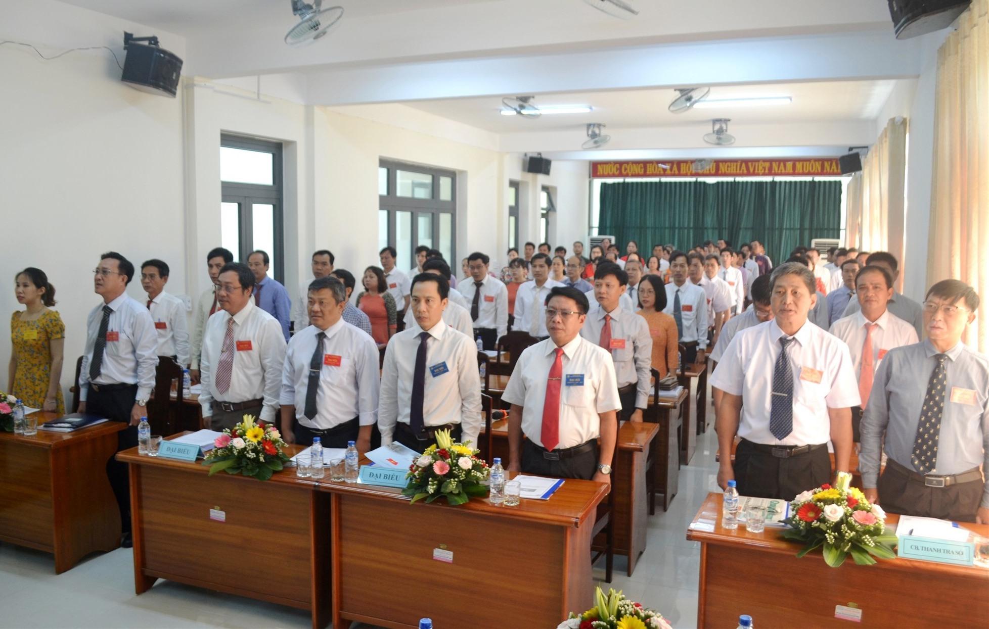 Đại hội có sự tham dự của 90 đảng viên toàn đảng bộ. Ảnh: CT