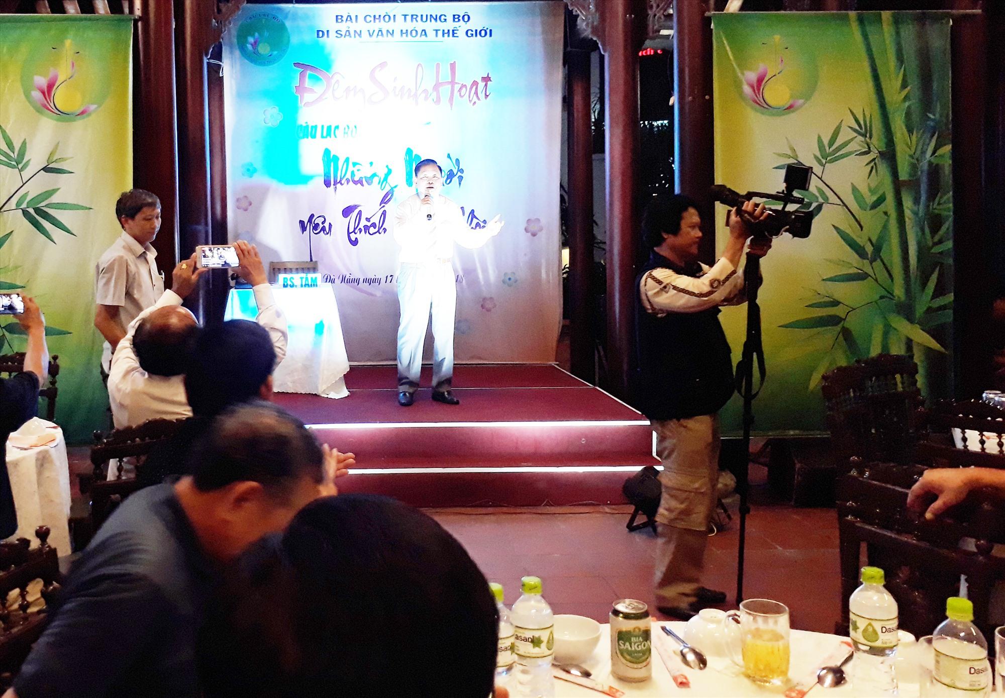Một chương trình dân ca bài chòi của Câu lạc bộ Những người yêu thích dân ca bài chòi Quảng Nam - Đà Nẵng. Ảnh: K.Đ